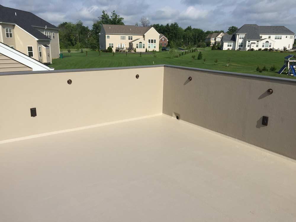Marvelous Fiberglass Knee Walls And Deck. Fiberglass Deck. Rooftop Deck
