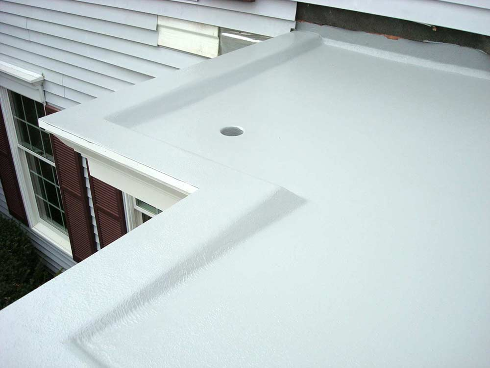 Fiberglass Portico Rooftop With Drain System