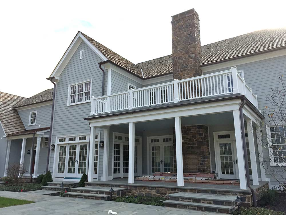 Custom Home With Fiberglass Roof Deck
